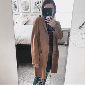 ZARA// camel oversized coat